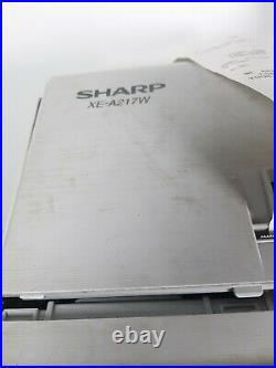 SHARP XE-A217W Electronic Cash Register Till With Key TESTED WORKS
