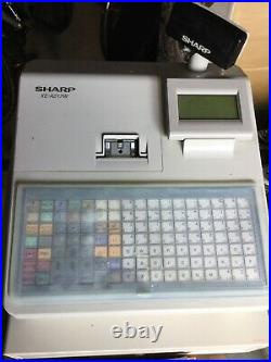 SHARP XE-A217WithXE-A217B Electronic Cash Register Till Retail Shop Used
