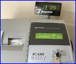 SHARP XE-A303 Electronic Cash Register With Box Of Till Rolls With Free P&P