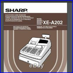 Sharp Cash Till, XE-A202 Electronic Cash Register with Thermal Printer
