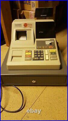 Sharp ER-1076 Electric Cash Register (Includes Till Rolls)