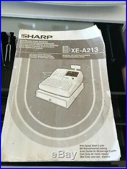 Sharp XE-A213 electronic cash till / register with rolls & manual
