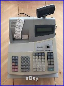 Sharp Xe A301 Electronic Cash Register Till Plus 60 Receipt Rolls