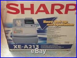 Sharp Xe-a213 Cash Register Till-new-pub/cafe/restaurant W Keys/manual/till Roll