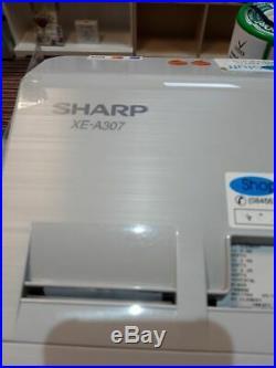 Sharp Xe-a307 Cash Register Xea307 Till Sharp Xe-a307 + Barcode Scanner (used)