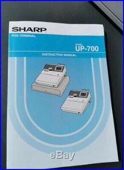 Sharp up700 cash register Till Multi Funct Programme Pub Shop Cafe Instructions