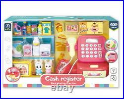 Supermarket Till Cash Register Toy Gift Set Kids Girl Shop Role Play