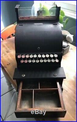 Till Cash Register Original Vintage / Antique Item Still Working With Key