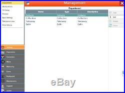 Touchscreen EPOS POS Cash Register Till System Hospitality / Pizza Shop