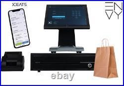 Touchscreen POS EPOS Till System Cash Register For Retail Takeaway Restaurant