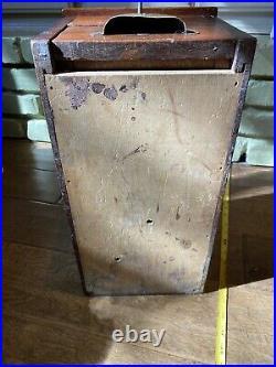 VINTAGE (G. H. GLEDHILL'S & Sons PAT. CASH TILL) WOOD CASH REGISTER OG KEY