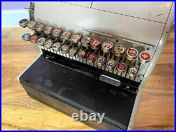 Vintage 1940s / 1950s National Cash Register Till, Antique Shop Prop, Retro UK