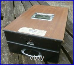 Vintage Adsit British Wooden Cash Till/register/drawer, With Bell Working Order