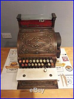 Vintage Antique Cash national till register Serial no 55363155