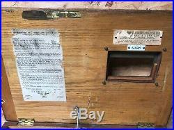 Vintage Antique Gledhill pine wooden cash till drawers register