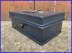 Vintage Antique MILNERS Safe Cash Till Register Strongbox Industrial