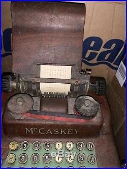 Vintage Antique McCaskey Cash Register Shop Till Fully Working