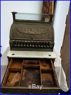 Vintage Antique National Till Cash Register Great condition despite age