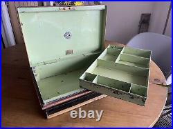 Vintage Antique RARE TWO BROTHERS Safe Cash Till Register Strong box