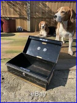 Vintage Antique Strong Box Safe Cash till Register MILNERS