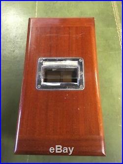 Vintage Antique Wooden Shop Cash Register Till, Working Bell With Keys. Mahogany