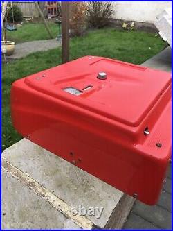 Vintage Art Deco Bakelite GROSS Cash Register Till Retro Red open all hours ring