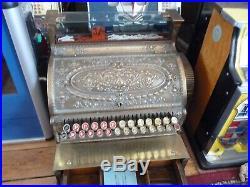 Vintage Brass National Cash Register 1906