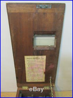 Vintage English Gledhill's Patent Cash Till Wood Cash Register Money Box