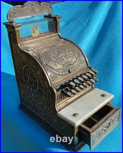 Vintage National Cash Register Brass Till 1902 Collectors Original Fully Working