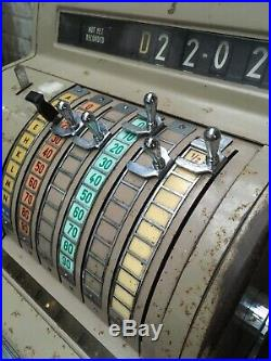 Vintage National Cash Register Shop Till NCR Arkwright Lever Crank Steampunk