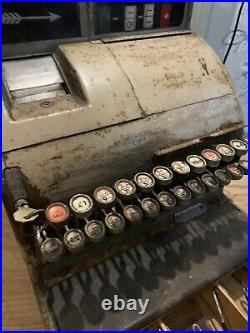 Vintage National Cash Register Till Prop Man Cave With Key