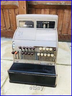 Vintage National / NCR Shop Cash Register / Till, Pre-Decimalisation, c 1960's