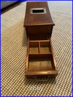 Vintage Wooden Cash Till Register