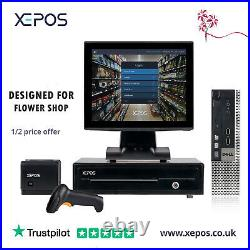 XEPOS 12in Touch Screen EPOS Cash Register POS Till System For Flower Shop