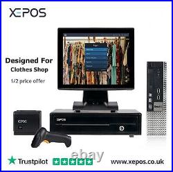 XEPOS 12in Touchscreen Cash Register POS EPOS Till System For Asian Clothes Shop