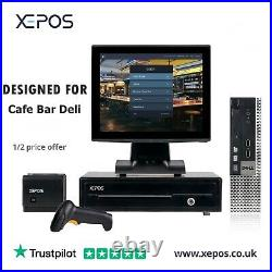 XEPOS 12in Touchscreen POS EPOS Cash Register Till System For Cafe Bar Deli